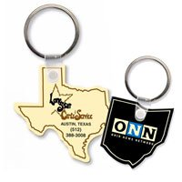 State Shaped Vinyl Key Chains
