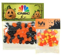 Halloween Header Bags w/ Candy Corn