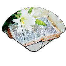Church Hand Fans - Expandable Bible Design