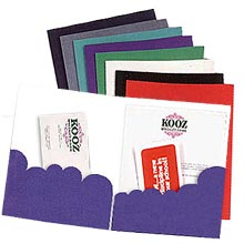 "9"" x 12"" Scalloped Pocket Printed Presentation Folders"