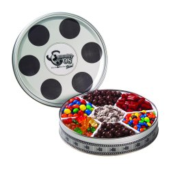 Popcorn & Candies, Large Film Reel Tin