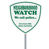 Shield Security Yard Signs with Optional Stakes