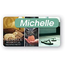 "Personalized Badges, Full Color, 1-1/2"" x 2-7/8"""