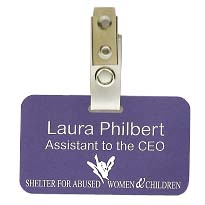 "Deluxe Name Badges, 1-3/4"" x 3"""