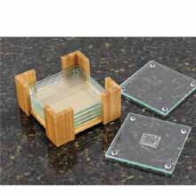 Eco-Friendly Coaster Sets, Bamboo Stand