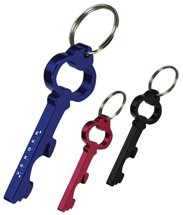 Key Shape Key Chains, Bottle Opener