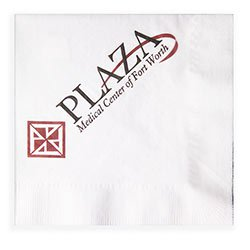 1-Ply Recycled White Luncheon Napkins, High Quantity