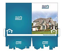 "9"" x 12"" Cityscape Pocket Presentation Folders"