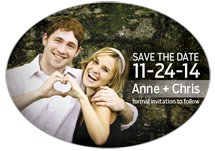 Save The Date Oval Magnets