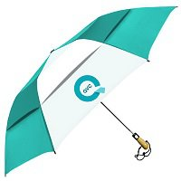 "Vented Little Giant™ Folding Golf Umbrellas - 58"" Arc"