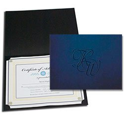"Paper Certificate Holders, Embossed 9-1/4"" x 11-3/4"""