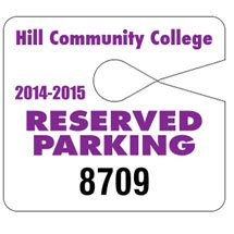 Jumbo Parking Permit Hang Tags - 4 x 3.5