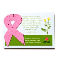 4 x 5 Awareness Ribbon Seed Infused Note Cards