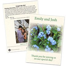Save the Date Wedding Forget-Me-Not Seed Packets