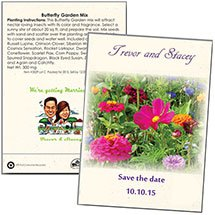 Save the Date Wedding Butterfly Garden Seed Packets