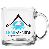 13 oz. Glass Coffee Mugs