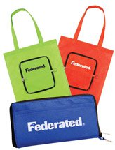 13 x 14 Zippered Non Woven Tote Bags