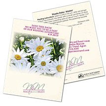 Save the Date Wedding Shasta Daisy 'Alaska' Seed Packets