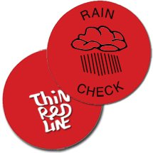 Plastic Tokens with Rain Check Design