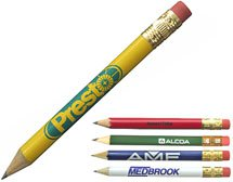 Round Golf Pencils with Erasers