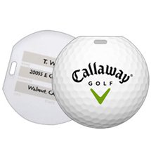 Recycled Plastic Golf Ball Luggage Tags