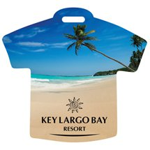 Beach Scene T-Shirt Recycled  Luggage Tags