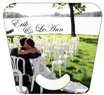 Oblong Stickless Wedding Hand Fans