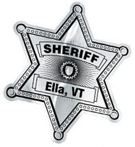 2.56 x  3.06 Sheriff Badge Union Printed Lapel Stickers on Rolls