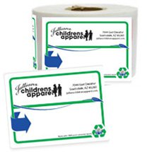 "Recycled 3"" x 4"" Roll Shipping Labels"