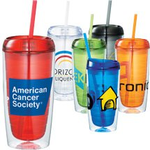 16 oz. Vortex Tumblers with Straws