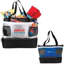 22 x 15 Double Decker Cooler Tote Bags