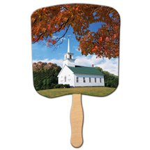 Church Hand Fans - Chapel on a Hill Design