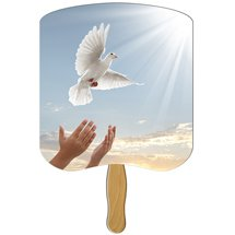 Church Hand Fans - Dove Design