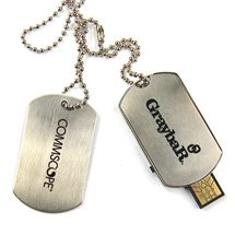 4GB Dog Tag USB Flash Memory Drives