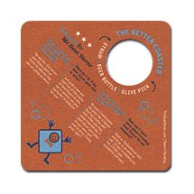 "4"" Square Medium Weight Full Color Save Your Seat Coasters - High Quantity"