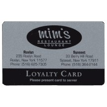 Deluxe Plastic Silver Loyalty Cards