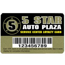 Deluxe Plastic Gold Loyalty Cards