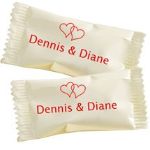 Wedding Dessert Mints - Hearts Design