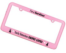 Pink License Plate Frames - 4 Holes