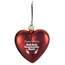 Shatterproof Heart Ornaments