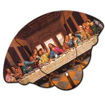 Church Hand Fans - Expandable Last Supper Design