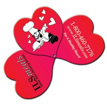 Expandable Three Part Heart Hand Fans