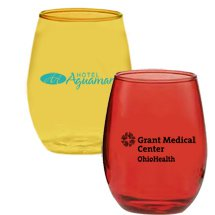 15 oz. Colored Stemless Wine Glasses