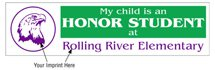 "11.5"" x 3"" Stock Honor Student Bumper Stickers"