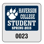 "1.75"" x 1.75"" Mini Parking Permit Decals"