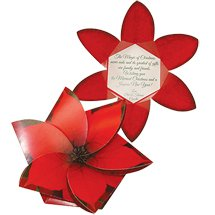 "5.5"" x 5.5""  Poinsettia 3D Gift Card Holders"