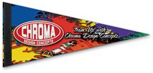 10 x 4 Full Color Premium Felt Pennants