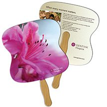 Full Color Econo Hourglass Hand Fans