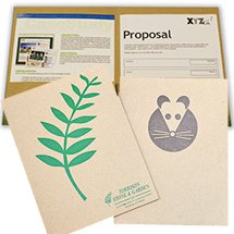 9 x 12 Embossed Recycled Presentation Folders