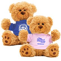 "6"" Plush Teddy Bear in T-Shirt"